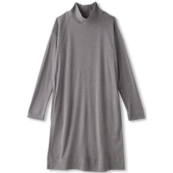 ロングトップス Mグレー ダンスキン レディース ロングTシャツ ワンピース (DKN)(QBJ37)