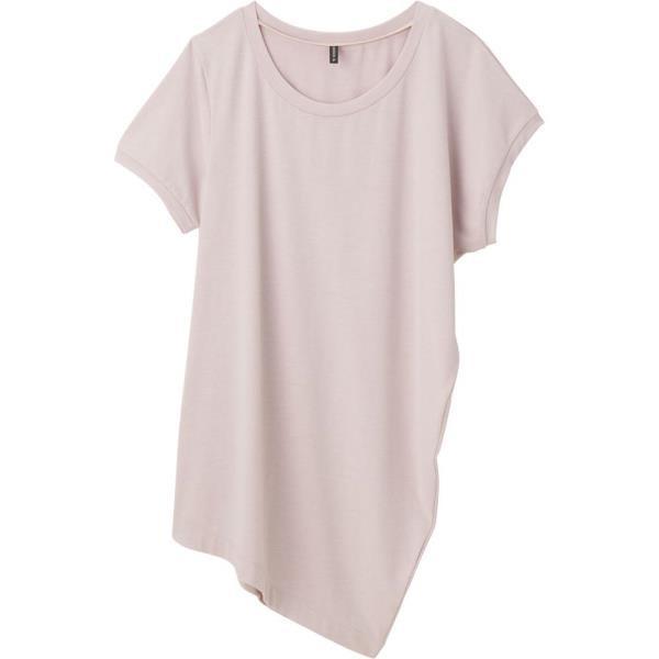 ドライウールドレープトップス スモーキRO ダンスキン レディース Tシャツ 半袖 (DKN)(QBJ37)