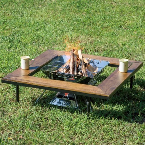 バーベキューテーブル 机 おしゃれ 机 キャンプ #81064133 アイアンウッド囲炉裏テーブル (HN)(QBJ37)