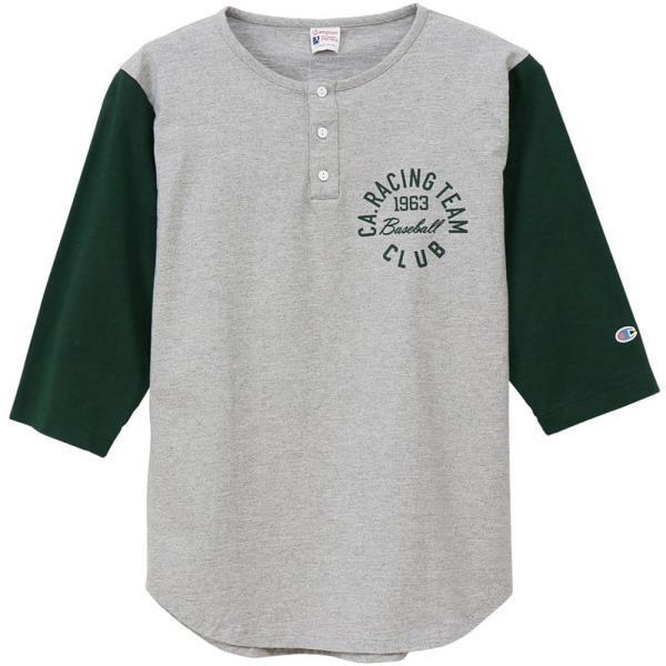 七分丈シャツ メンズ ロングTシャツ メンズ 長袖 メンズ ロチェスター 3/4スリーブ 7分袖 Tシャツ ダークグリーン (JSC)(QBJ37)