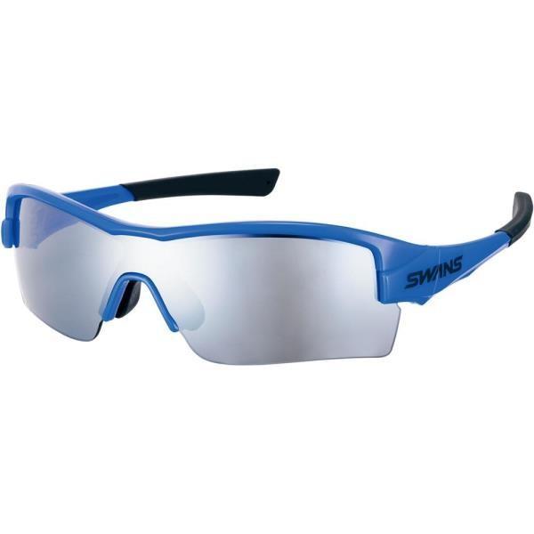 サングラス スポーツ 軽い サングラス メンズ STRIXH0701-COB STRIX・H (ミラーレンズ ) ブラック×シルバーミラー×スモーク コバルトBL/CBL/ (SWS)(QBJ37)