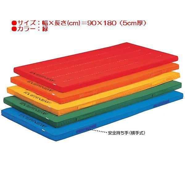エコ・カラーマット(枚)(緑) (JS83816/EKM001)(分類:体操マット 体育マット マット トレーニングマット)(QBJ37)
