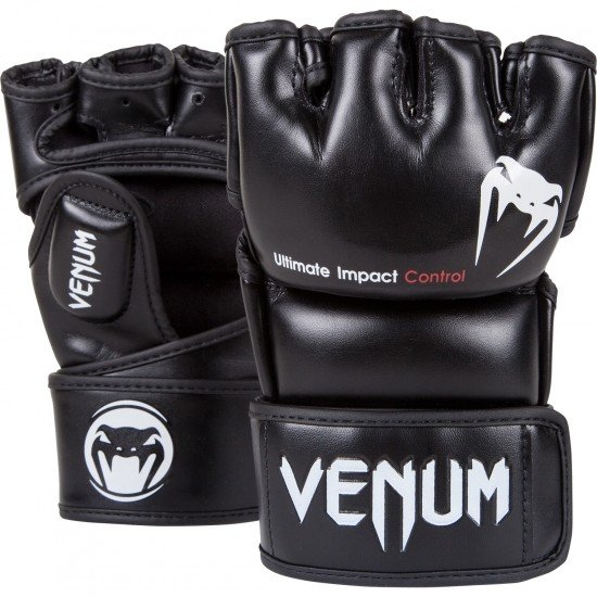 VENUM MMAグローブ 黒 IMPACT(インパクト)シリーズ スキンテックスレザー