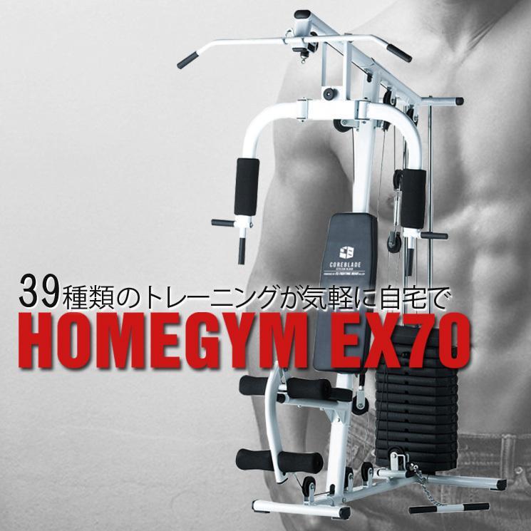 【倍倍ストア10倍】ファイティングロード ホームジムEX70 マルチホームジム  トレーニングマシン コンパクト設計 自宅 筋トレ