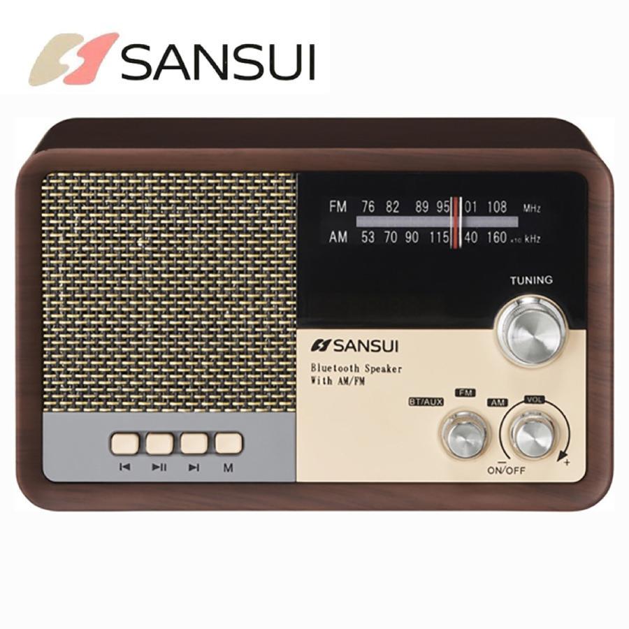 SANSUI サンスイ MSR-1 WD AM FM ラジオ スピーカー ウッド Bluetooth iPhone スマホ 対応 レトロ オーディオ (R)|fill-online