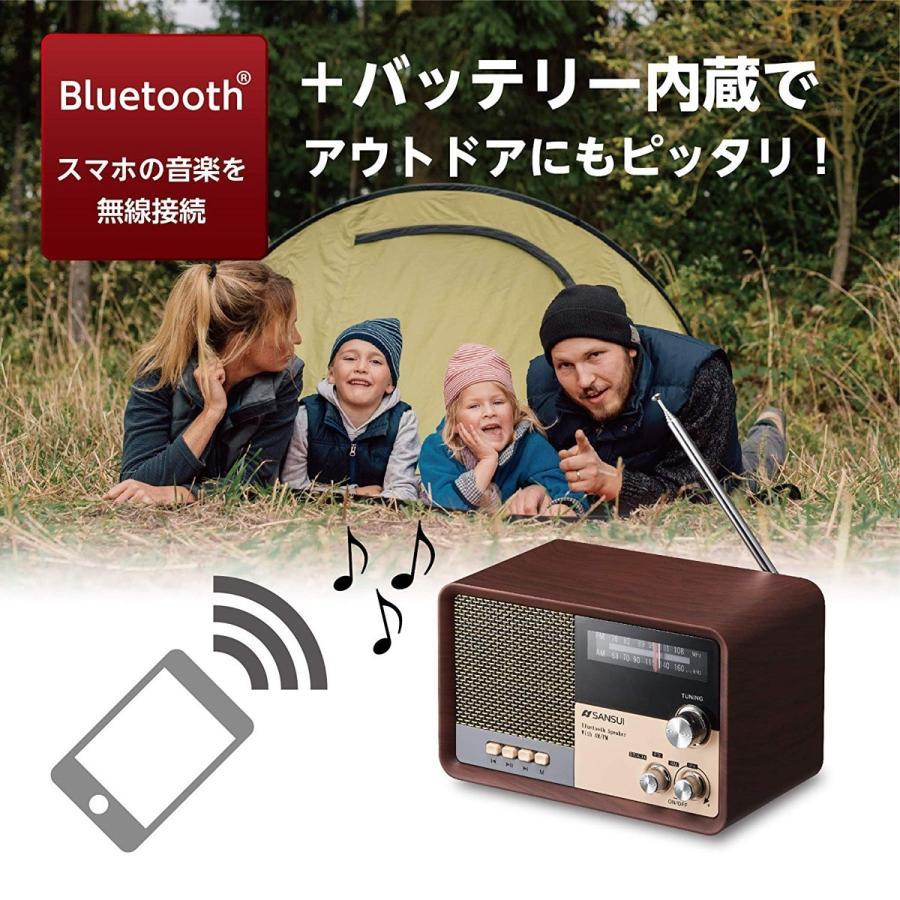 SANSUI サンスイ MSR-1 WD AM FM ラジオ スピーカー ウッド Bluetooth iPhone スマホ 対応 レトロ オーディオ (R)|fill-online|04