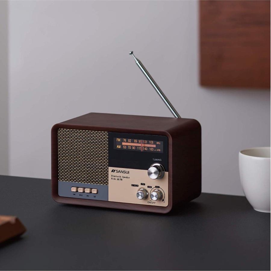 SANSUI サンスイ MSR-1 WD AM FM ラジオ スピーカー ウッド Bluetooth iPhone スマホ 対応 レトロ オーディオ (R)|fill-online|06