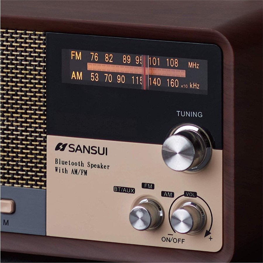 SANSUI サンスイ MSR-1 WD AM FM ラジオ スピーカー ウッド Bluetooth iPhone スマホ 対応 レトロ オーディオ (R)|fill-online|07