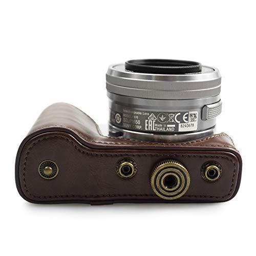 kinokoo SONY ソニー α5000 α5100 NEX-3N専用カメラケース PUレザー ショルダーストラップ(コーヒー)|finance-inovation|07