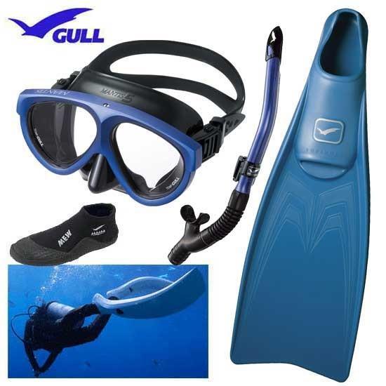 素晴らしい外見 2020 GULL ガル スーパーミュー SUPER MEW ダイビング 軽器材セット 4点 マンティス5 カナール/レイラドライスノーケル ショートミューブーツ GA-5639, ギフトギャラリー石橋 01652952