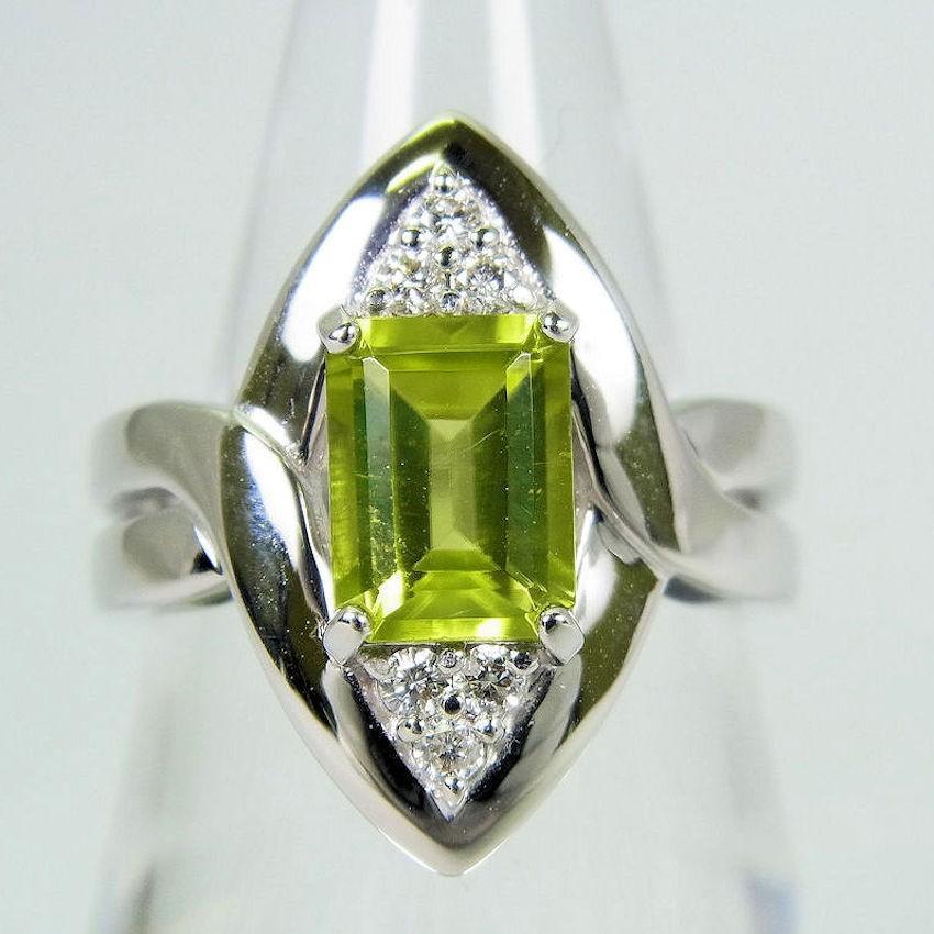 大特価 【】K18WG ペリドット ダイヤモンド リング 11号[f14-17], EVRICA(エヴリカ) a14e5dfa