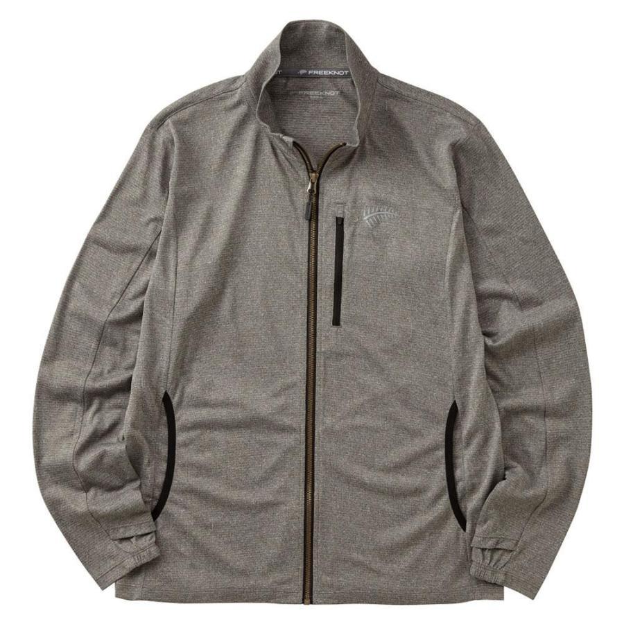 送料無料 BOWBUWN ジップアップジャケット 杢グレー Y1440-4L-94