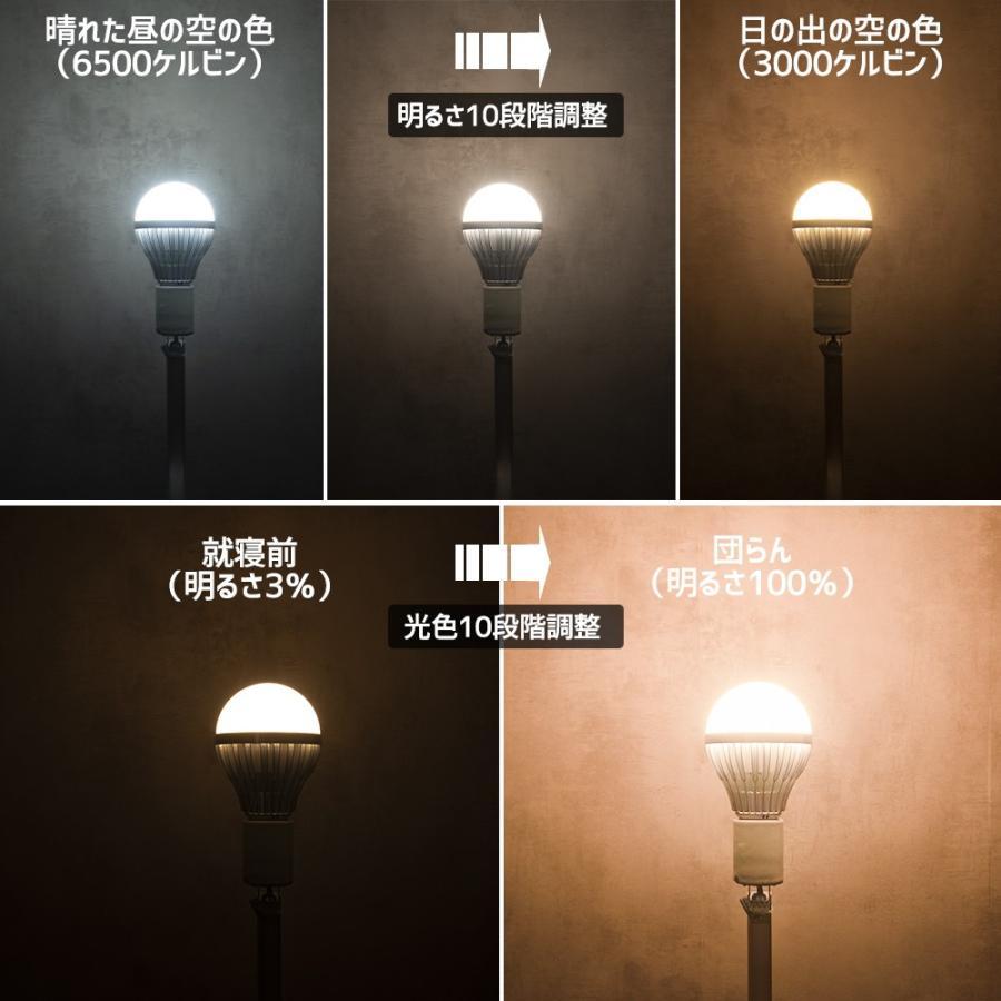 LED 電球 口金 E26 100w 相当 リモコン 式 調光 調色 15w 1600ルーメン 常夜灯 タイマー 記憶機能付き Smart Bulb II Bright【電球1個(リモコン別売り)】|finekagu|10