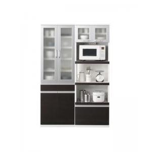 開梱設置付 奥行41cmの薄型モダンデザインキッチン収納 Sfida スフィーダ 食器棚+キッチンボードセット 幅60+60 幅60+60
