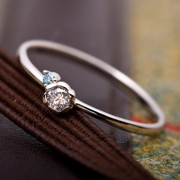 【期間限定送料無料】 ダイヤモンド リング ダイヤ0.05ct アイスブルーダイヤ0.01ct 合計0.06ct 13号 プラチナ Pt950 フラワーモチーフ 指輪 ダイヤリング 鑑別カード付き, AUBE(オーブ) 6c49d918