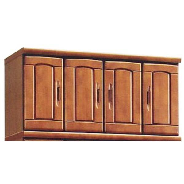上置き(シューズボックス用棚) 幅100cm 木製 扉/棚板付き 日本製 ブラウン 〔Horizon3〕ホライゾン3 〔完成品〕〔代引不可〕