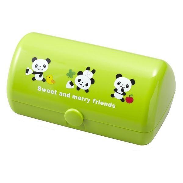 (まとめ)三角おむすびケース るんるんパンダ ( お弁当箱 おにぎりケース ) 〔120個セット〕