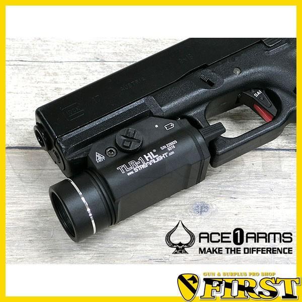 ACE1 ARMS TLR-1 HLスタイル LEDウエポンライト BKブラック 高輝度 小型 コンパクト 20mmレイル ハンドガンにも