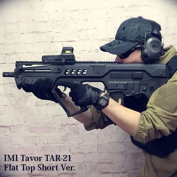 TAVOR(タボール) TAR21 フラットトップレイル 電動ガン BK ショートVer.