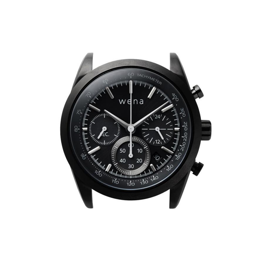 wena wrist Chronograph Solar Premium Black|firstflight