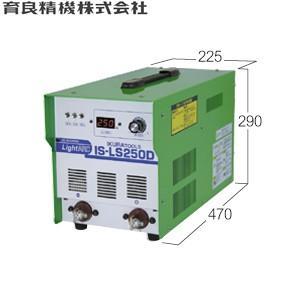 育良精機(イクラ) IS-LS250D ライトアーク 単相200V インバーター制御直流アーク溶接機 出力調整範囲:30〜250A