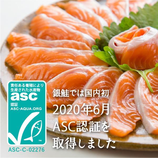 【ASC認証】銀鮭の王様、「銀王」刺身用銀鮭冷凍フィレを食べやすい半身でお届け ◯ fishermanjapan 02