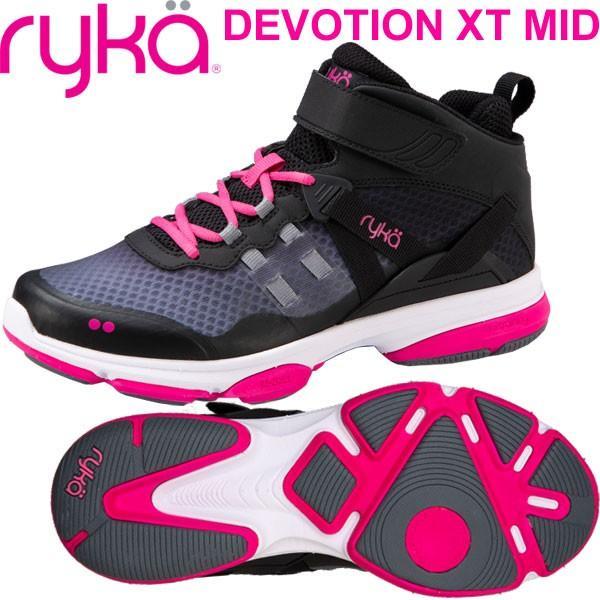 柔らかな質感の RYKAライカ DEVOTION XT MID (ブラック×ピンク) F4334M-2002(22.0〜26.5cm/レディース/メンズ)ディボーションXTミッド, アヤハディオ ネットショッピング 1aeef6b1