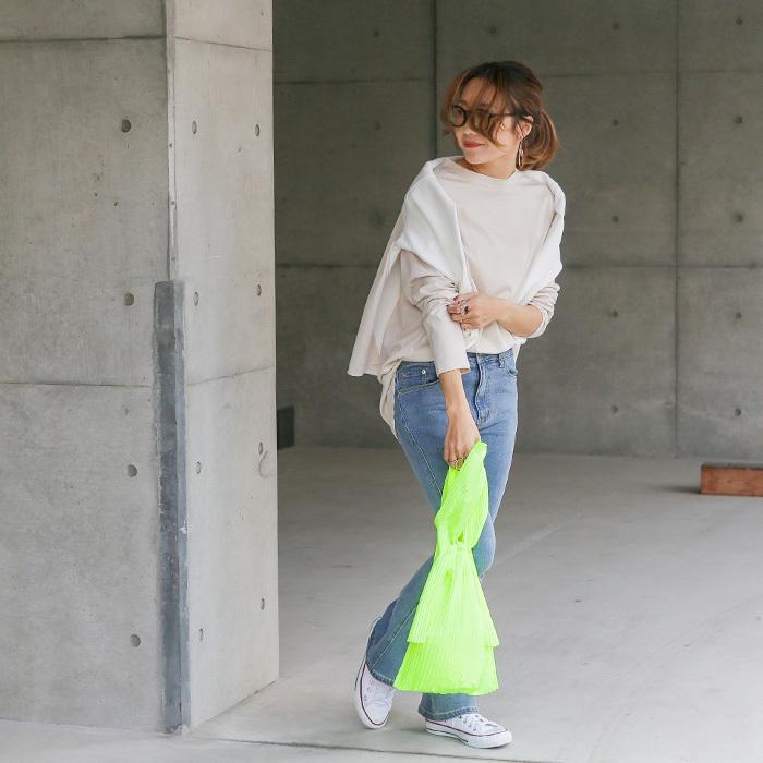 [送料無料]プリーツショッパー バッグ トートバッグ エコバッグ 雑貨 鞄 bag レディース 春夏 2021SS新作 メール便可|fitpromotion|16