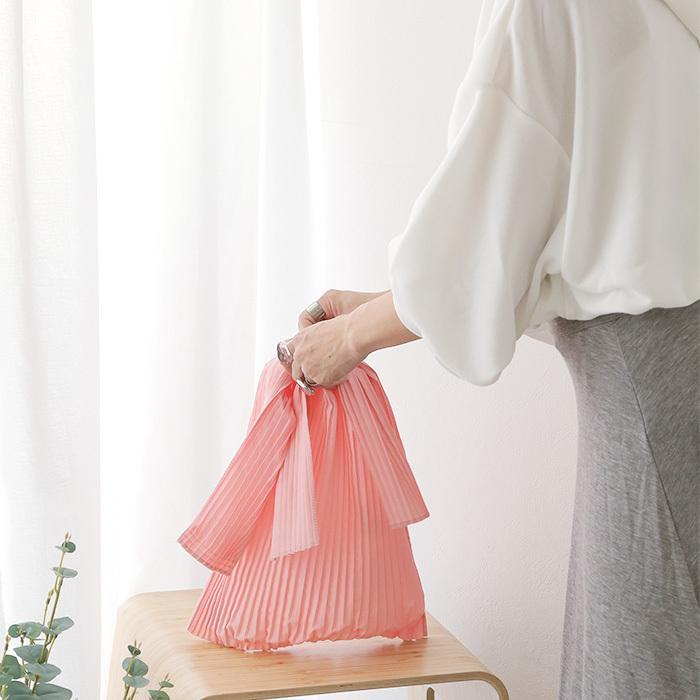 [送料無料]プリーツショッパー バッグ トートバッグ エコバッグ 雑貨 鞄 bag レディース 春夏 2021SS新作 メール便可|fitpromotion|06