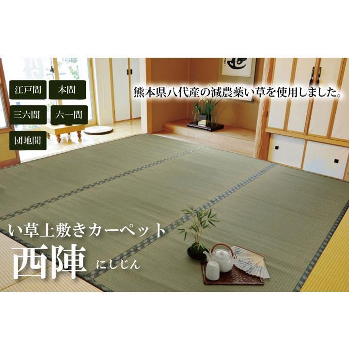 い草 上敷き 国産 六一間 8畳 約370cm×370cm 八代産 糸引織 西陣