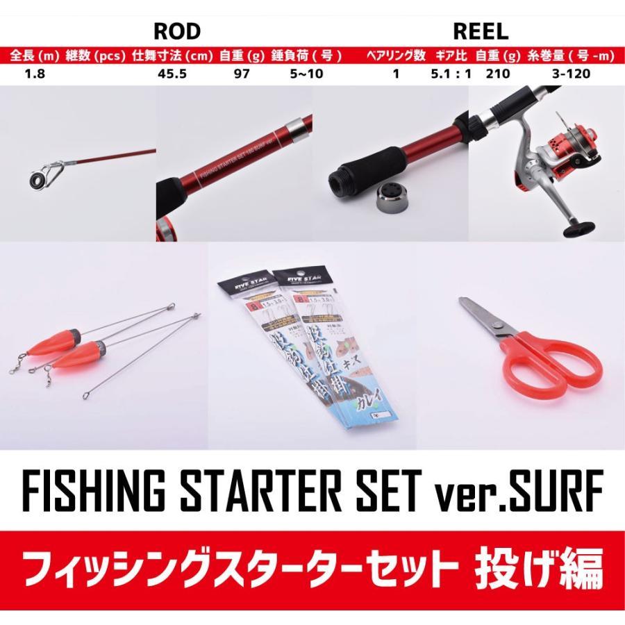 ゼロから始める初心者応援!フィッシングスターターセット  投げ編/投げ釣り/FIVESTAR/ファイブスター|fivestarfishing|08