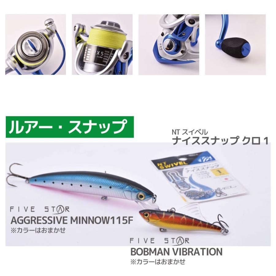 ルアーもついたフルセット!チャレンジシーバスセット/シーバス/ルアー/釣り/FIVESTAR/ファイブスター|fivestarfishing|07