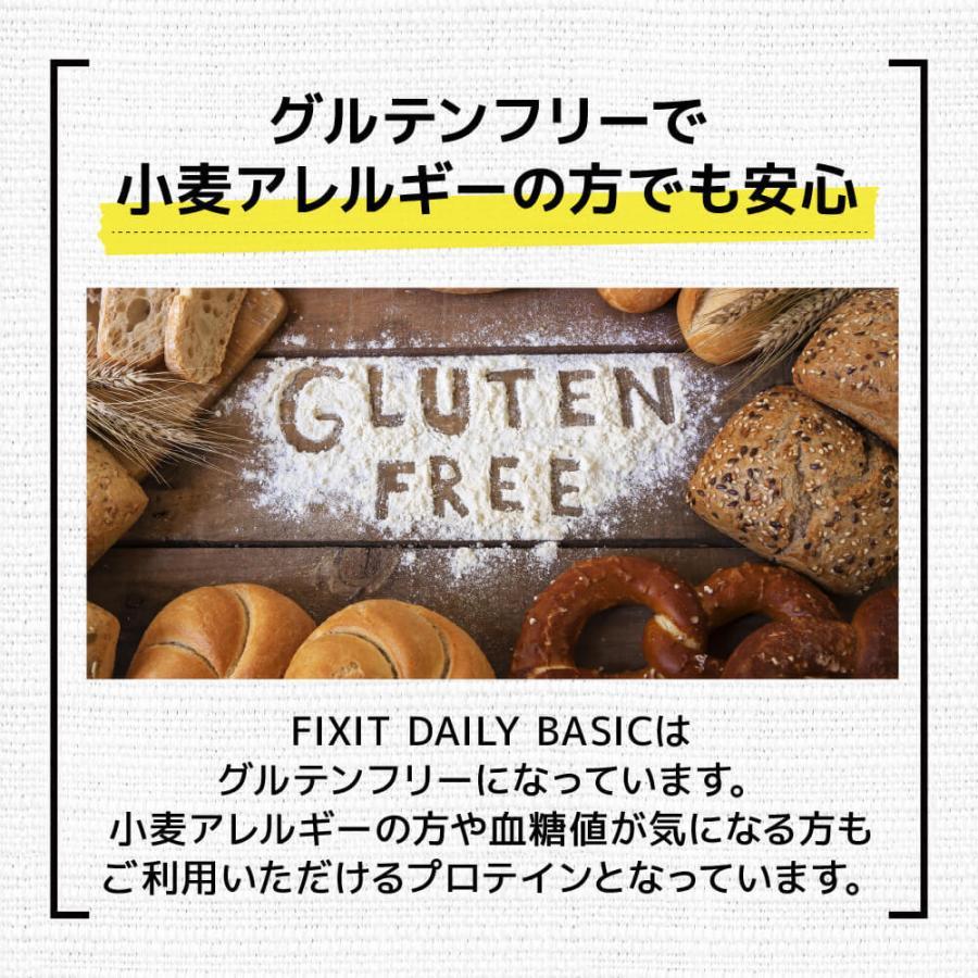 プロテイン ホエイプロテイン バニラ ストロベリー バナナ コーヒー フルーツミックス 1kg たんぱく質含有量80%以上 FIXIT DAILY BASIC fixit 09