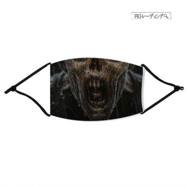 二枚送料無料 どくろマスク ハロウィン お化け ホラー 恐怖 マスク 大人用 子供用 お化け コスプレ 小物 装飾 口鼻保護 通気性 男女兼用|fk-trade|20