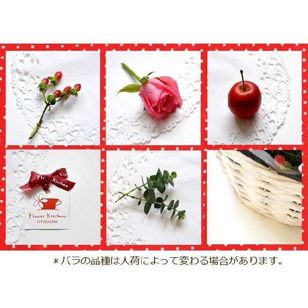 ハート型フラワーケーキ フラワーギフト バラのハートケーキアレンジ   即日発送 あすつくの花ギフト 誕生日 記念日 RSBQ fkjiyugaoka 05