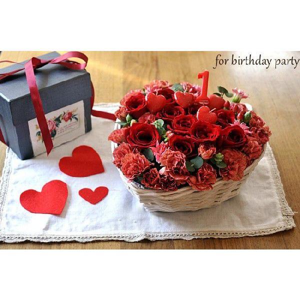 ハート型フラワーケーキ フラワーギフト バラのハートケーキアレンジ   即日発送 あすつくの花ギフト 誕生日 記念日 RSBQ fkjiyugaoka 06