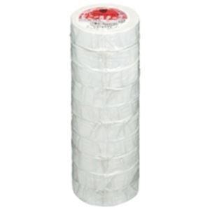(業務用50セット) ヤマト ビニールテープ/粘着テープ 〔19mm×10m/白〕 10巻入り NO200-19