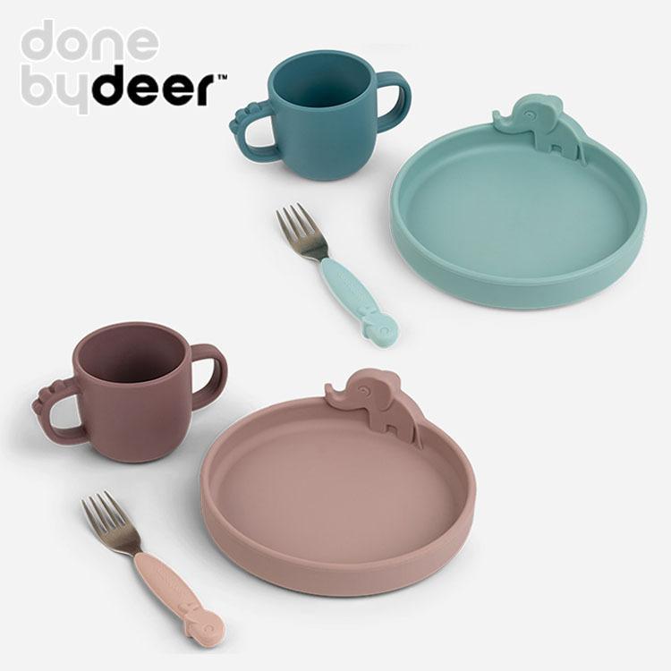 特典付/ダンバイディア ピーカブー ディナーセット Done by Deer 送料無料 ポイント7倍|flaner-baby