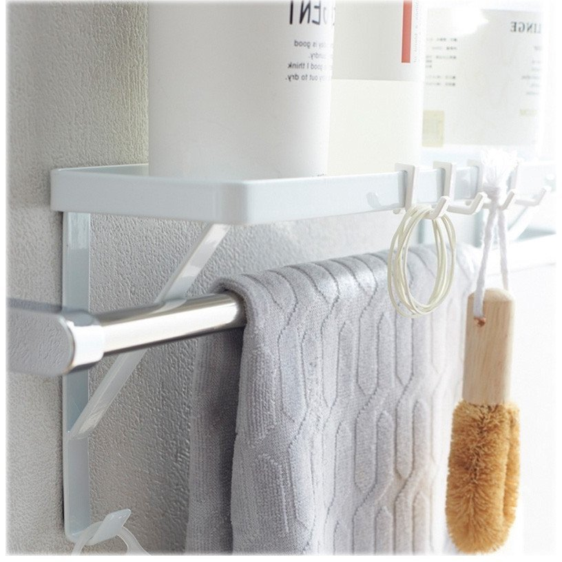 タオル掛け上ラック シャンプーラック サニタリー収納 棚 石鹸置き せっけん置き バスルーム収納 おしゃれ シンプル 北欧|flapship-furniture|12