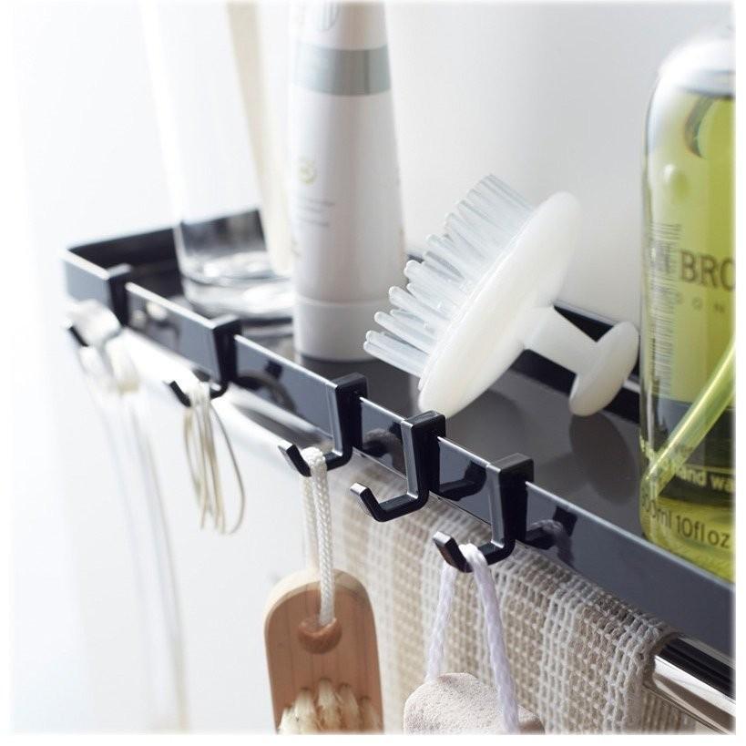 タオル掛け上ラック シャンプーラック サニタリー収納 棚 石鹸置き せっけん置き バスルーム収納 おしゃれ シンプル 北欧|flapship-furniture|14