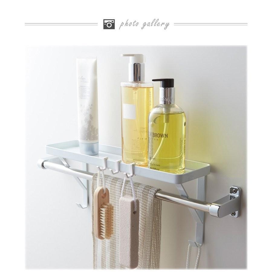 タオル掛け上ラック シャンプーラック サニタリー収納 棚 石鹸置き せっけん置き バスルーム収納 おしゃれ シンプル 北欧|flapship-furniture|10