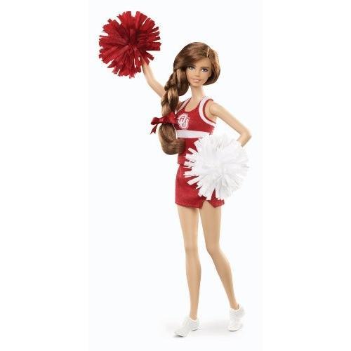 MATTEL マテル オクラホマ大学チアリーダーバービー人形University Of Oklahoma Barbieドール30cm X9205