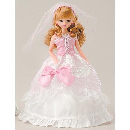 リカちゃん ウェディングドレス ピンク LW-14 ステップ2