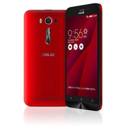 【リファービッシュ品】ASUS SIMフリースマートフォン ZenFone 2 Laser(Qualcomm Snapdragon 410/メモリ 2GB)16GB レッド|flashstore