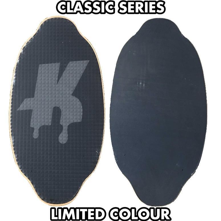 フラットスキム ランド Kayotics カヨティックス Classic Series Dripped ブラックxダークグレー Size:107cm×53cm|flatskimjapan