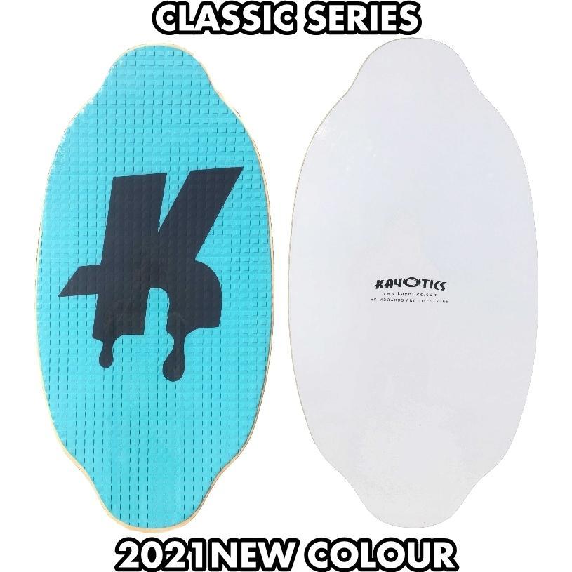 フラットスキム ランド Kayotics カヨティックス Classic Series Dripped ターコイズxネイビー Size:107cm×53cm|flatskimjapan
