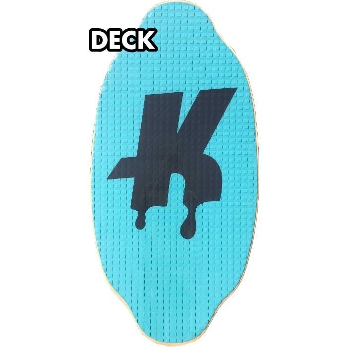 フラットスキム ランド Kayotics カヨティックス Classic Series Dripped ターコイズxネイビー Size:107cm×53cm|flatskimjapan|02