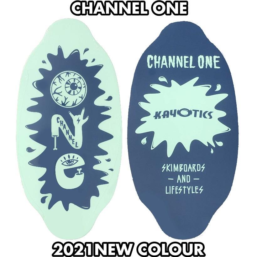 フラットスキム ランド Kayotics カヨティックス Channel-One アクアグリーンxネイビー Size:99.5cm×49.5cm デッキテープ付|flatskimjapan
