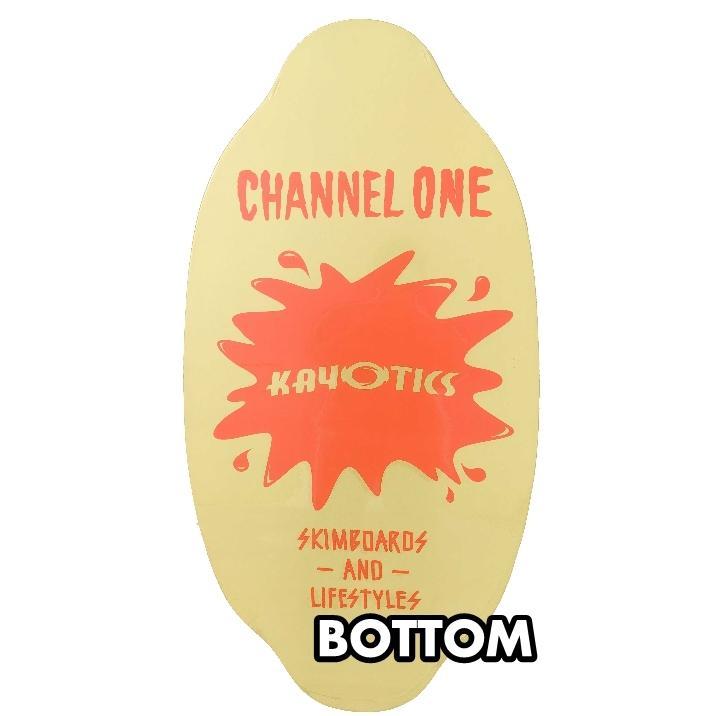 フラットスキム ランド Kayotics カヨティックス Channel-One オレンジxベージュ Size:99.5cm×49.5cm デッキテープ付|flatskimjapan|03