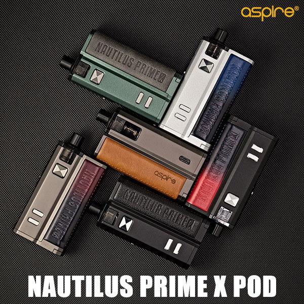 【日本語マニュアル付き】Aspire アスパイア Nautilus Prime X POD ノーチラス プライム エックス プライムX vape POD型 ポッド型 初心者 おすすめ 味重視 18650